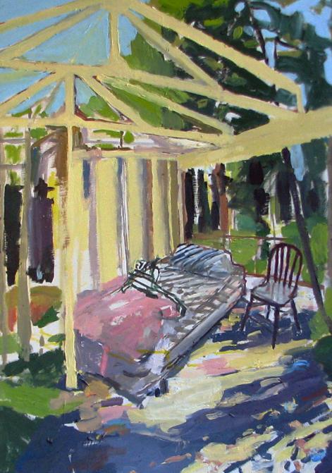 "Nancy. Oil on birch panel. 18"" x 24"" 2009 (series of 8)"