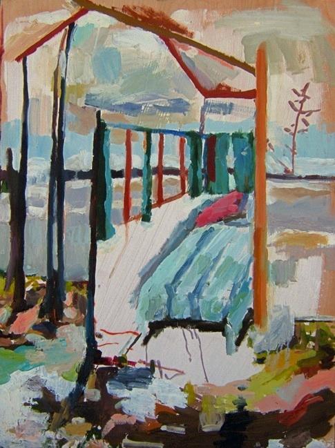 "Tamara. Oil on birch panel. 18"" x 24"" 2009 (series of 8)"