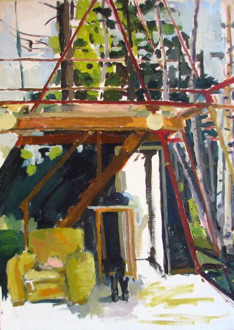 "Eric. Oil on birch panel. 18"" x 24"" 2009 (series of 8)"