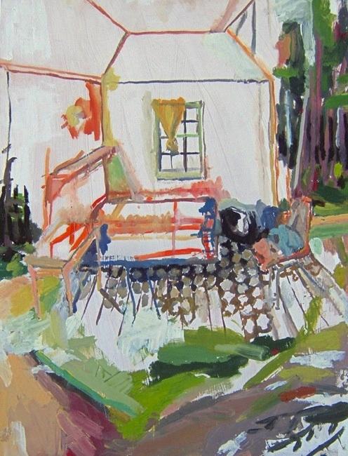 """Kathleen. Oil on birch panel. 18"""" x 24"""" 2009 (series of 8)"""