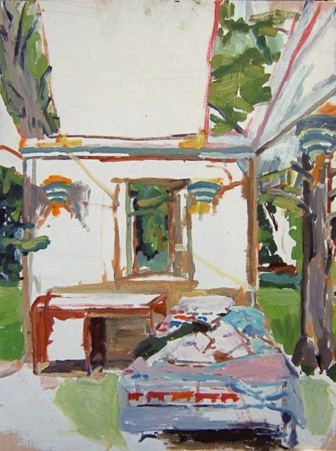 """Eileen. Oil on birch panel. 18"""" x 24"""" 2009 (series of 8)"""