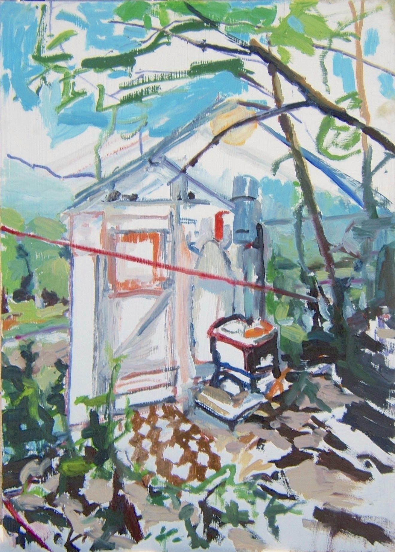 "Kenderdine. Oil on birch panel. 18"" x 24"" 2009 (series of 8)"