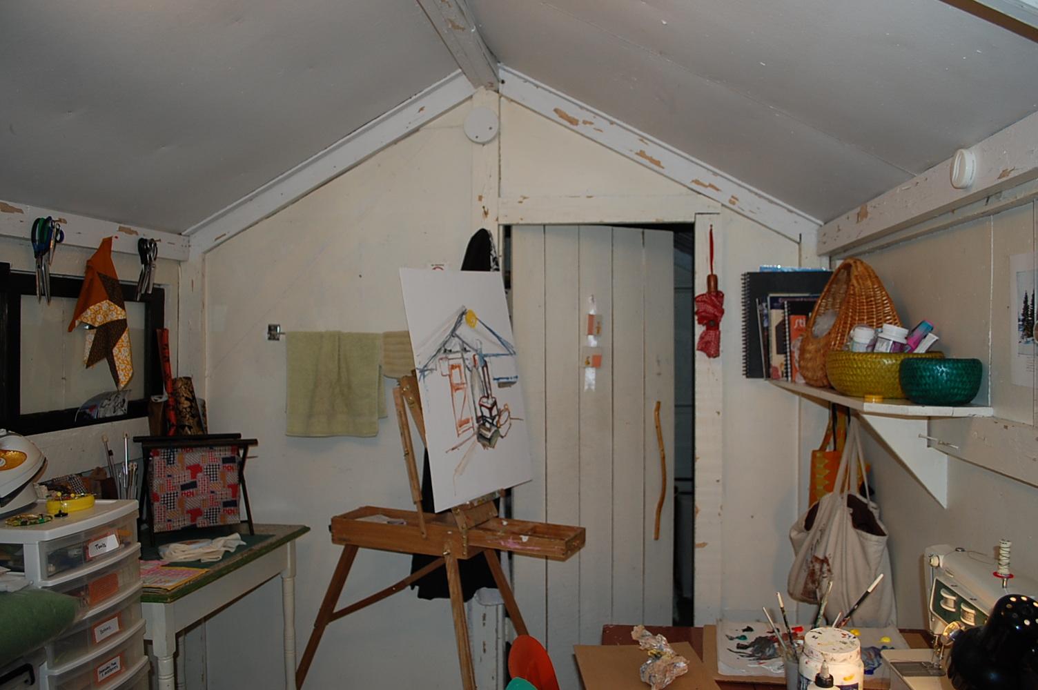 Digital image. Painting inside the Kenderdine cabin. 2009