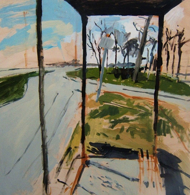 "Kingston Row North 30"" x 30"" 2008 Oil on birch panel. (Series of 12)"