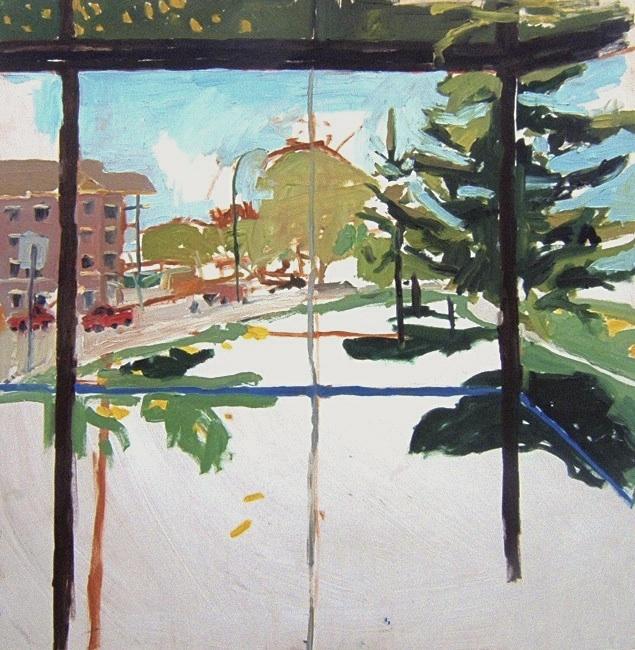 "Kingston Row South. 30"" x 30"" 2008 Oil on birch panel. (Series of 12)"