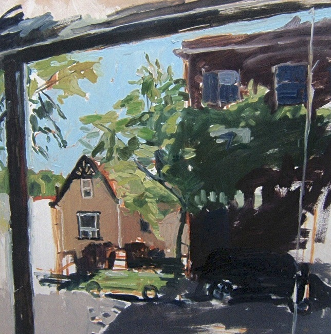 """Maryland and Ellice. 30"""" x 30"""" 2008 Oil on birch panel. (Series of 12)"""