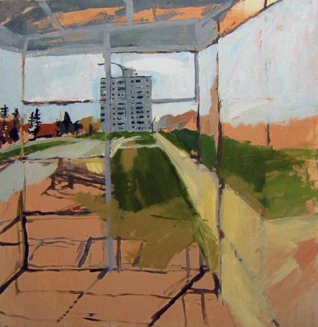 "Corydon. 30"" x 30"" 2008 Oil on birch panel. (Series of 12)"