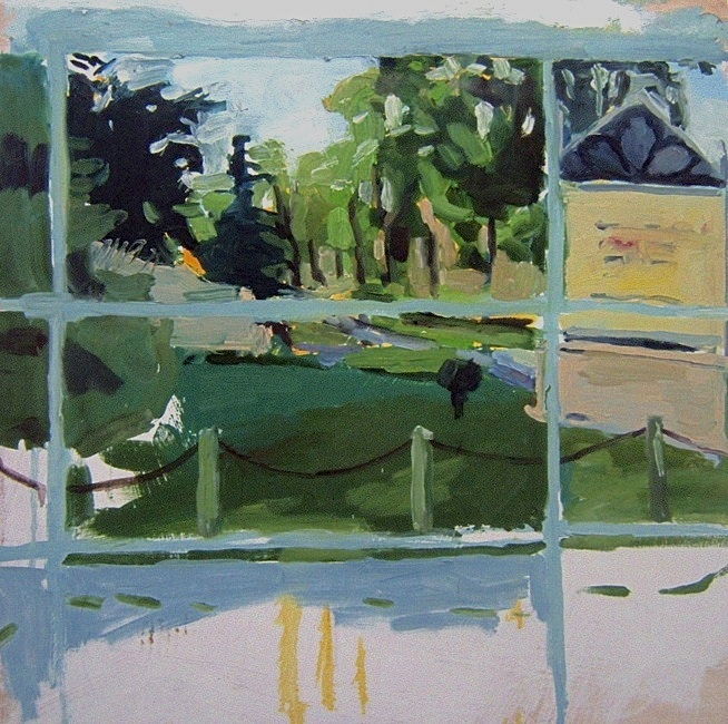 """Westminster. 30"""" x 30"""" 2008 Oil on birch panel. (Series of 12)"""