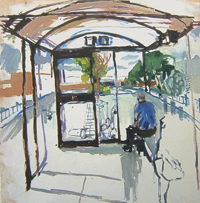 "Garden City. 30"" x 30"" 2008 Oil on birch panel. (Series of 12)"