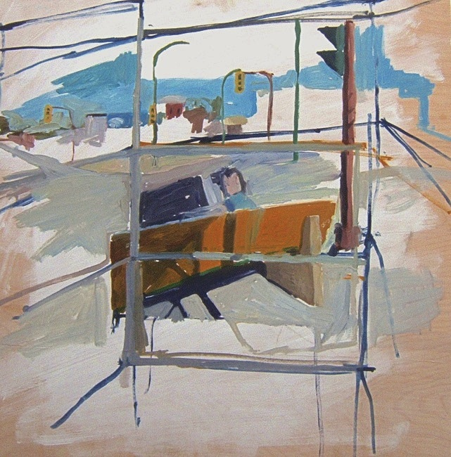 """Selkirk and Arlington. 30"""" x 30"""" 2008 Oil on birch panel. (Series of 12)"""