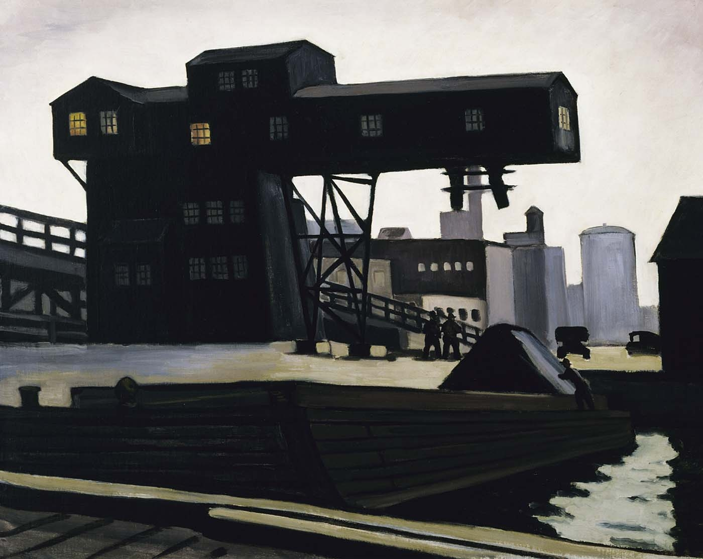 Max Arthur Cohn,  Coal Tower , ca. 1934, oil on canvas, Smithsonian American Art Museum, Transfer from the U.S. Department of Labor, 1964.1.4   Painted as part of the PWAP