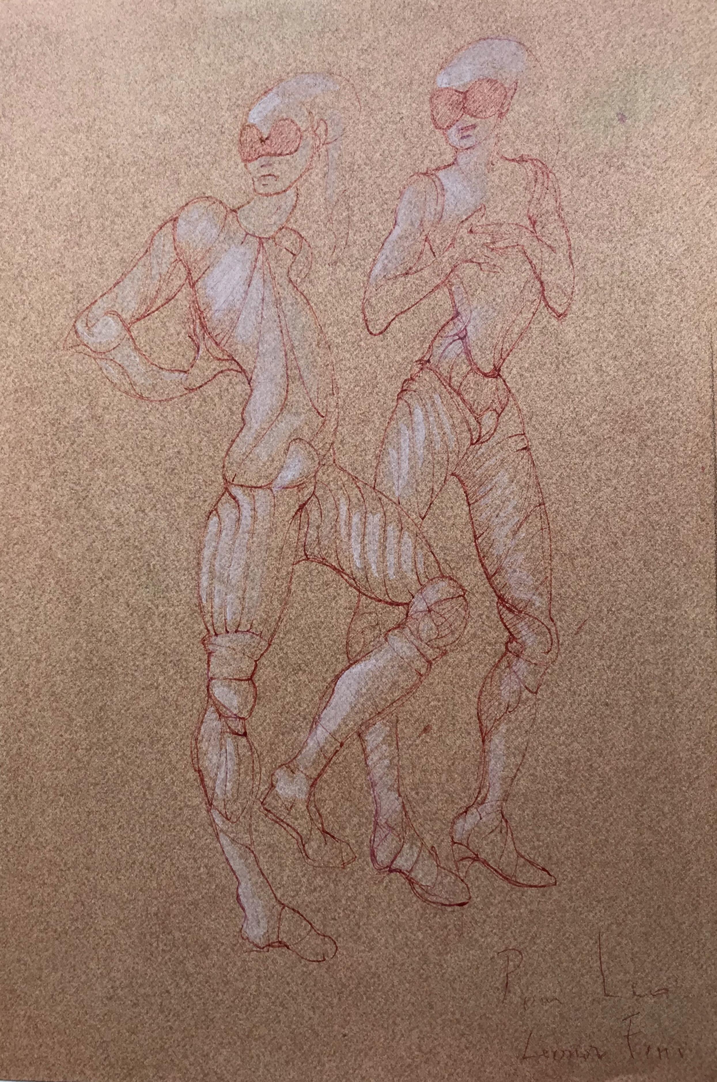 """Fruit de la Passion - Faces Cachees by Leonor Fini Gouache and ink on paper 10"""" x 16"""""""