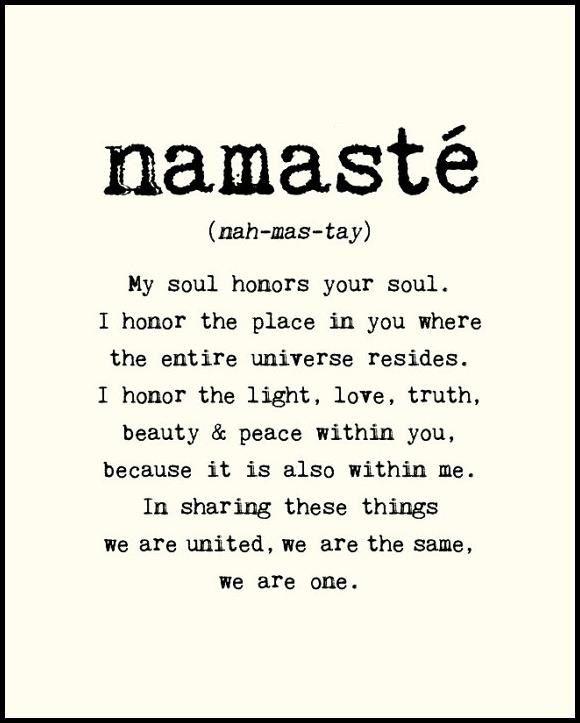Namaste = Forever Yoga classes at the Yoga Barn, MV