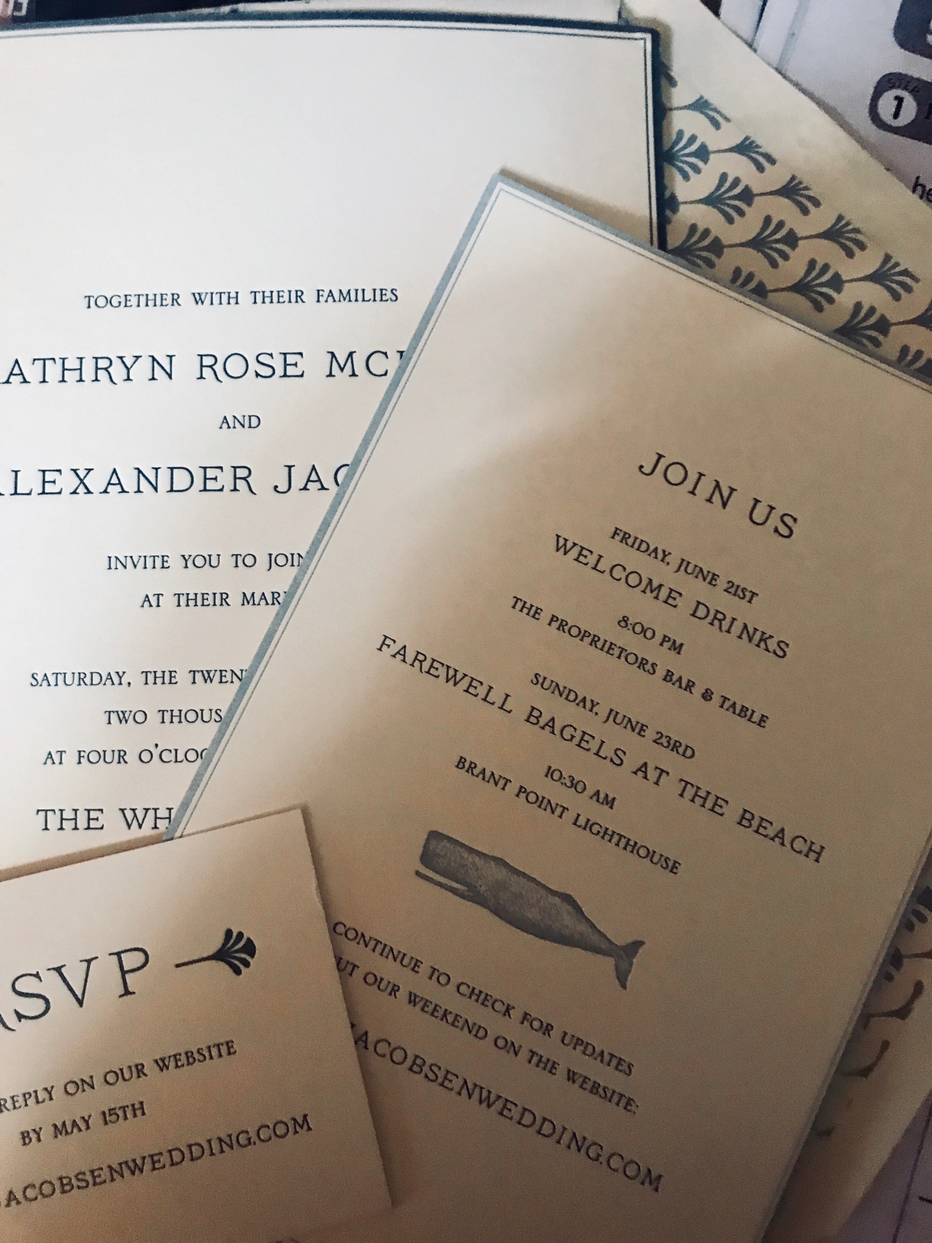 Parchment invitation suite