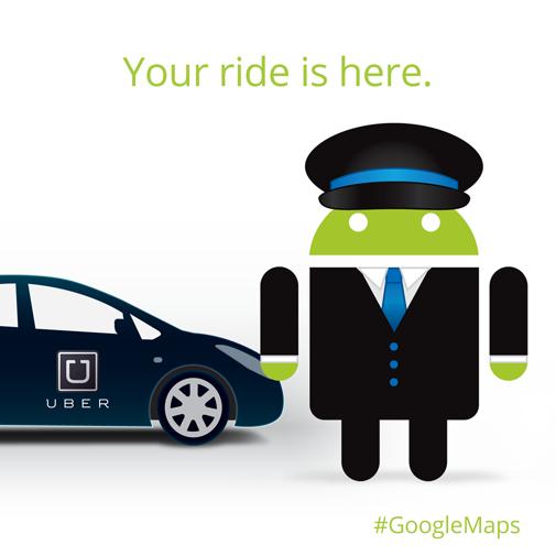 Google Maps and Uber   Creative DIrector: Warren Purifoy  Art DIrector: Omar Mejia