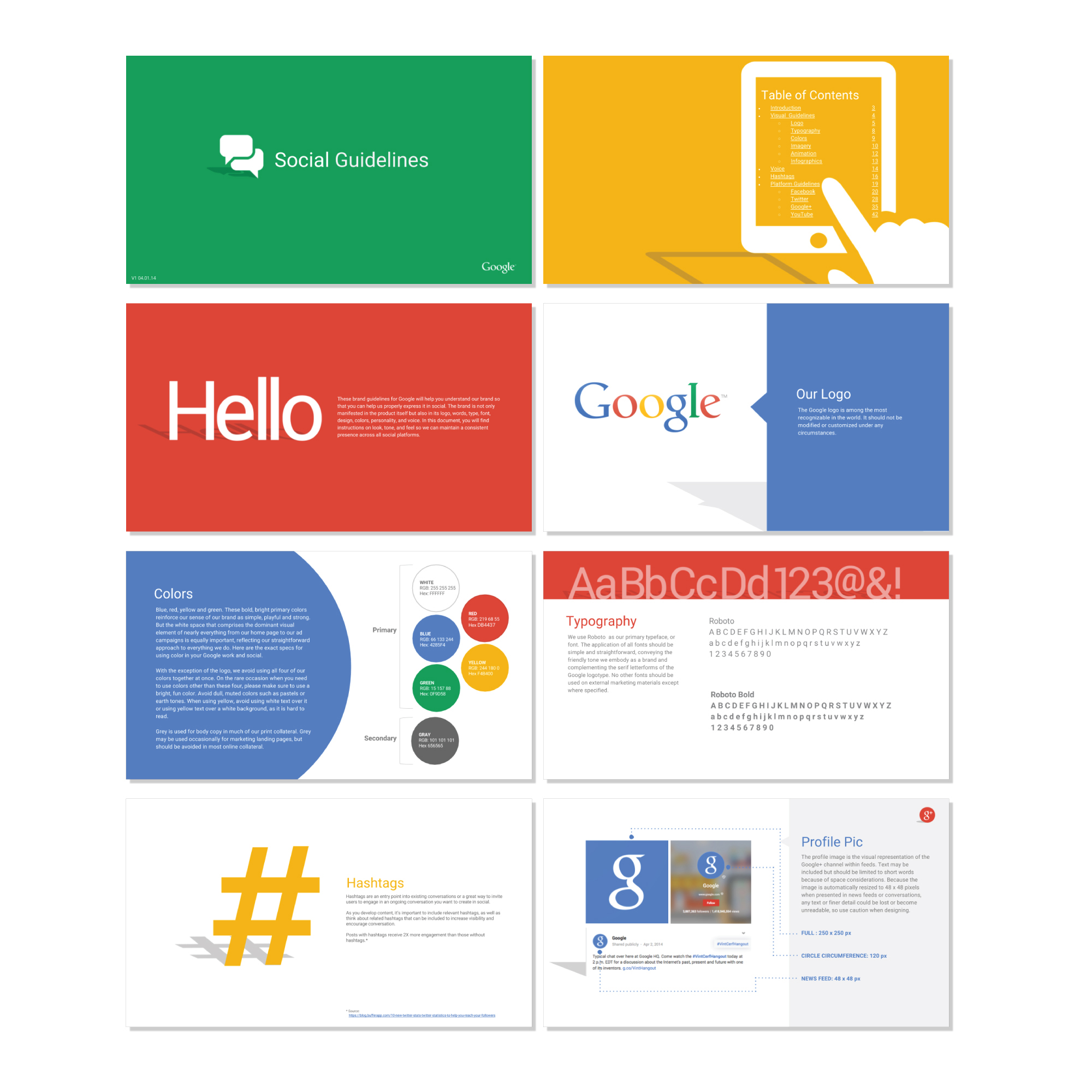 Google Social Styleguide