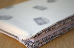 Hand stamped covered notebook