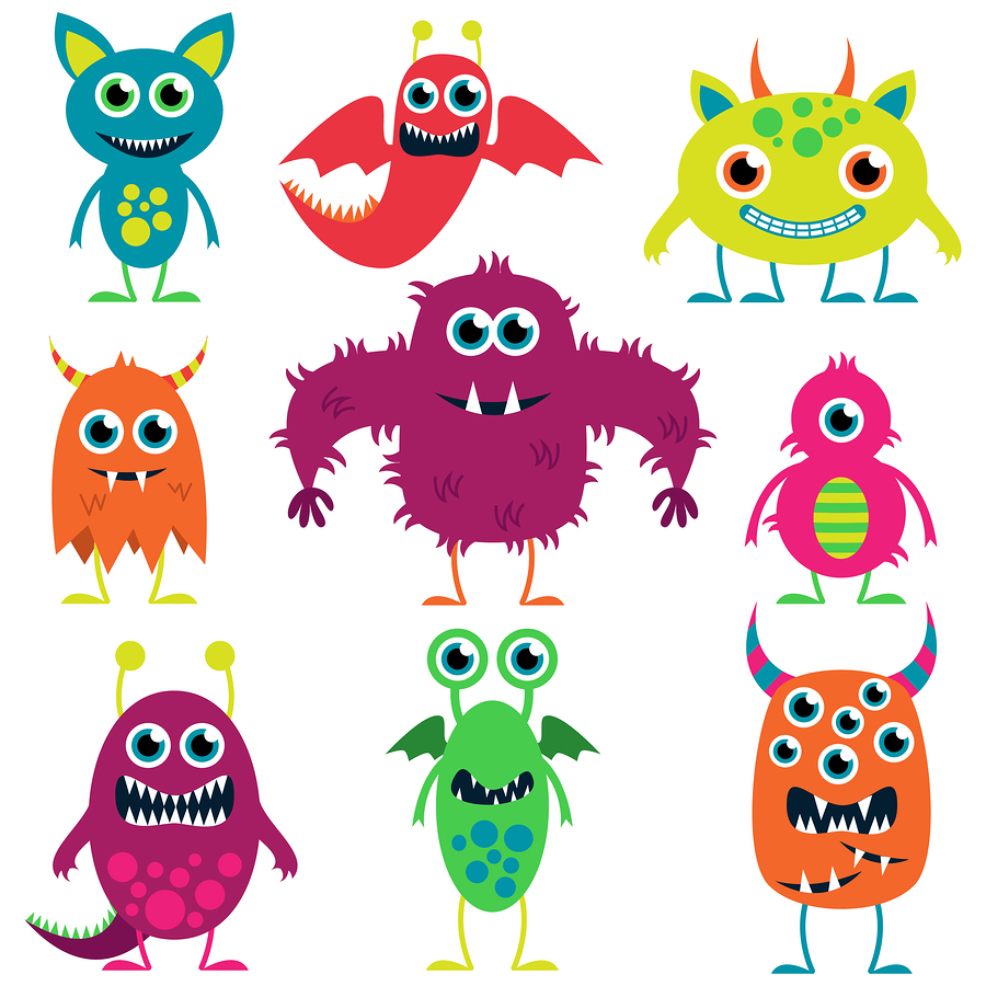 V  ector collection of cute monsters