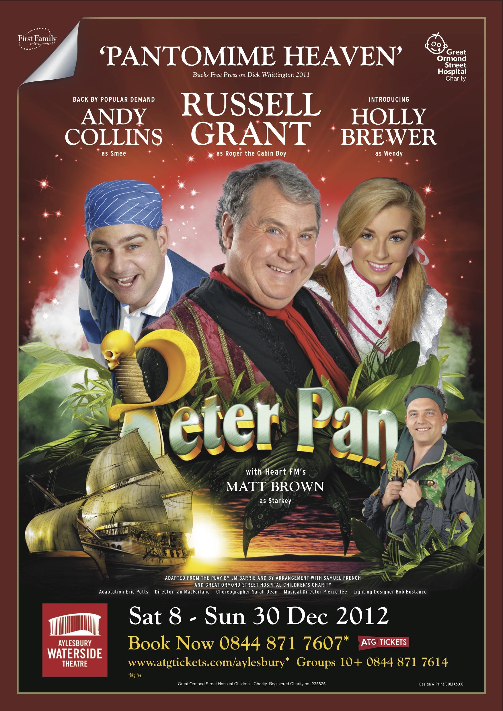 December 2012/January 2013    Playing 'Wendy' in Peter Pan at Aylesbury Waterside Theatre.