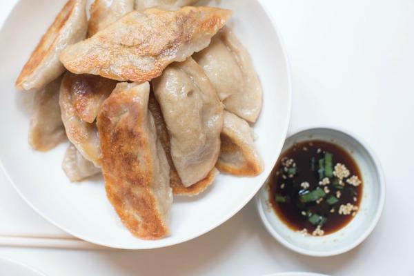 Vegan Pork Dumplings with Quinoa
