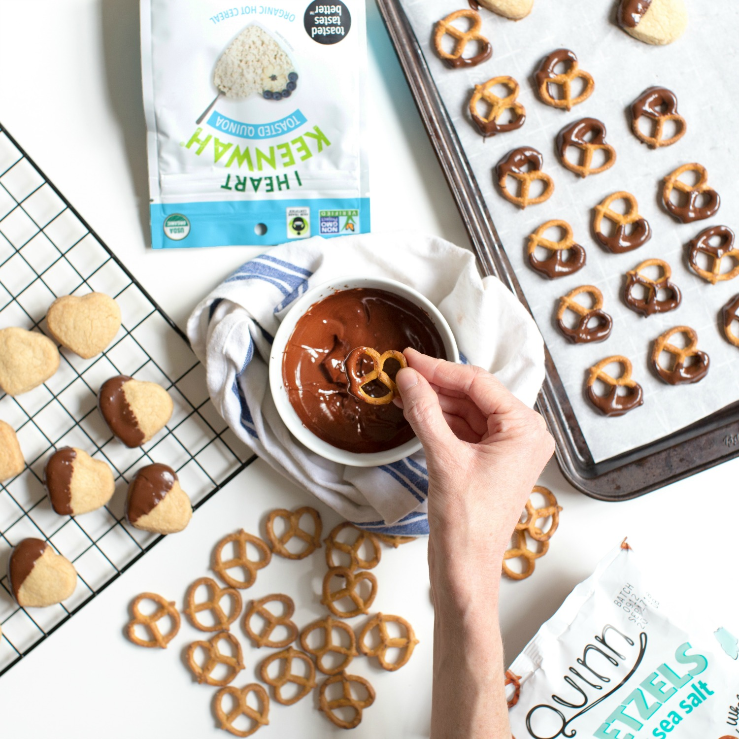 Chocolate Covered Quinoa Shortbread Cookies and Quinn Pretzels.jpg