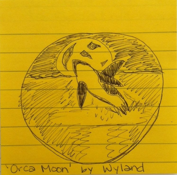 Orca Moon by Wyland, Drawn by Andrea Kuipers