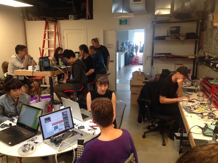 RGB LED Workshop at Limbic Media. Image courtesy of Limbic Media.
