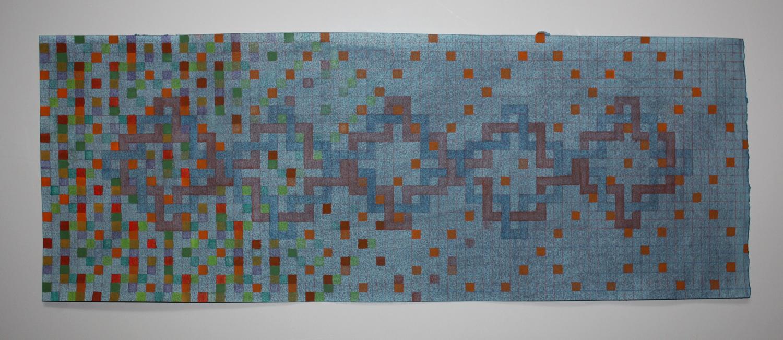 """BlueScotoma Watercolor 10"""" x 27""""    2009           """""""