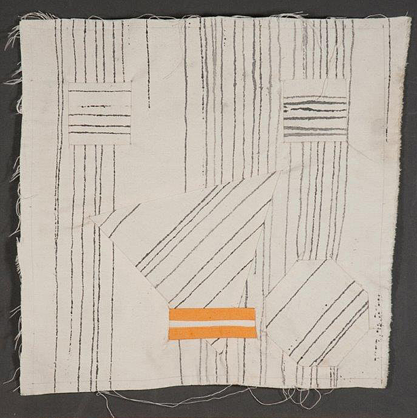 "Fabric Sketch 2       Acrylic on canvas      15"" x 15""     1968"