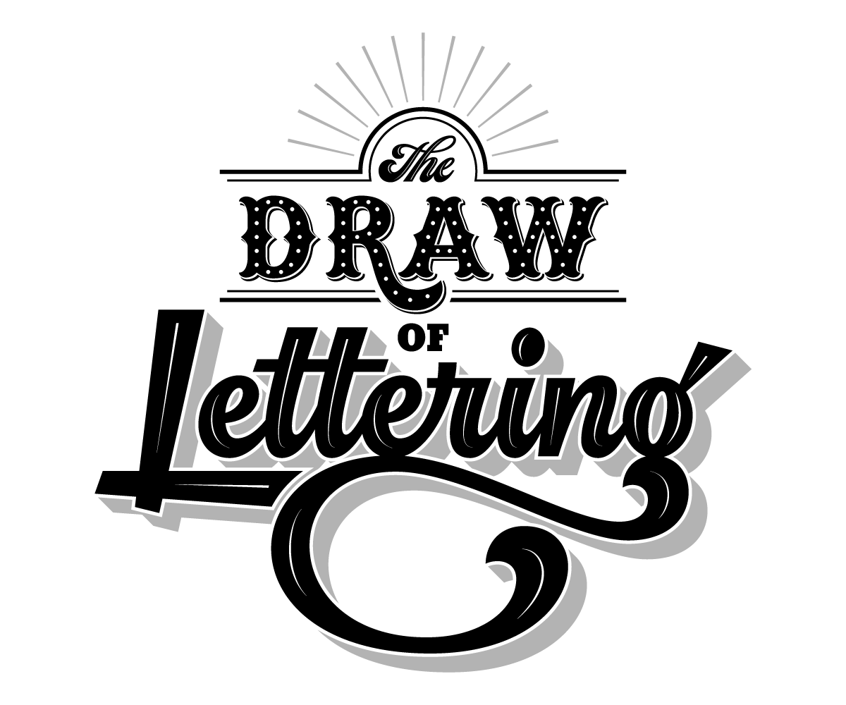 'The Draw Of Lettering' is a wordplay which translates to the fast growing attraction hand lettering has garnered over the last several years while literally portraying the process of illustrating custom letterforms to create hand lettered art .