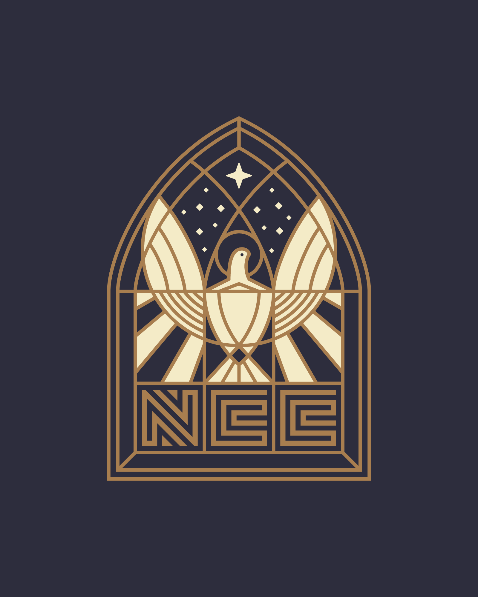 Hand Lettered Logotype   THE NATIONAL   CHRISTIAN CHOIr    View Project