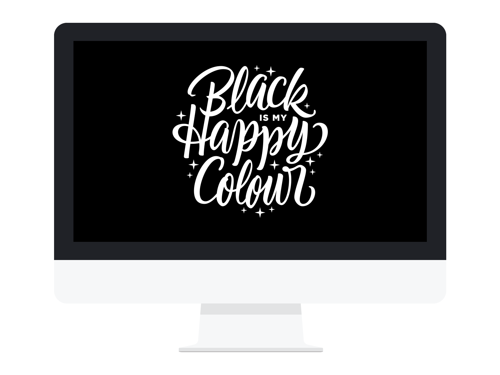 Desktop Wallpaper    Black Happy    DOWNLOAD