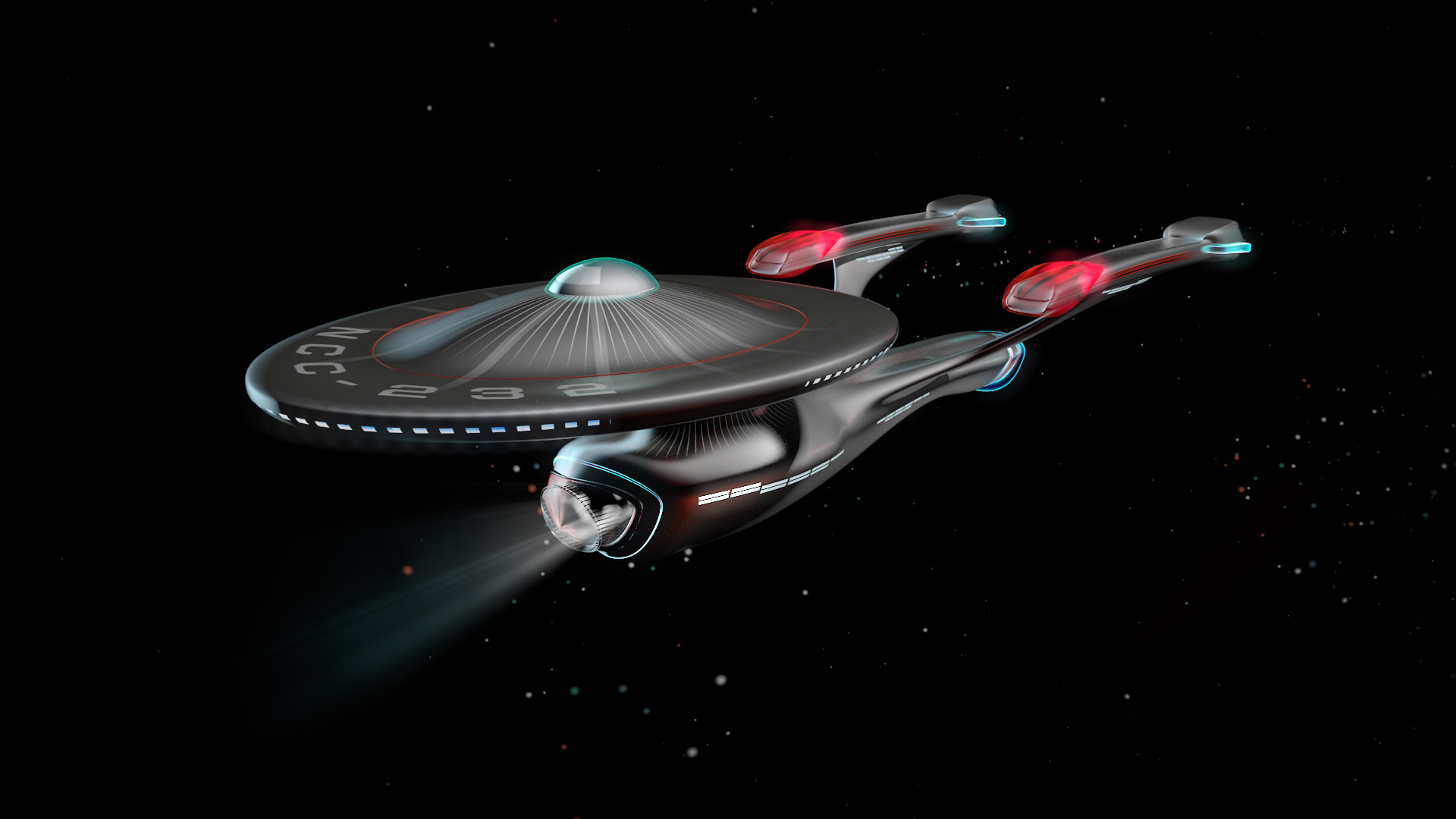 I always wanted to build a version of the Enterprise. This is was modeled in Cinema 4D.