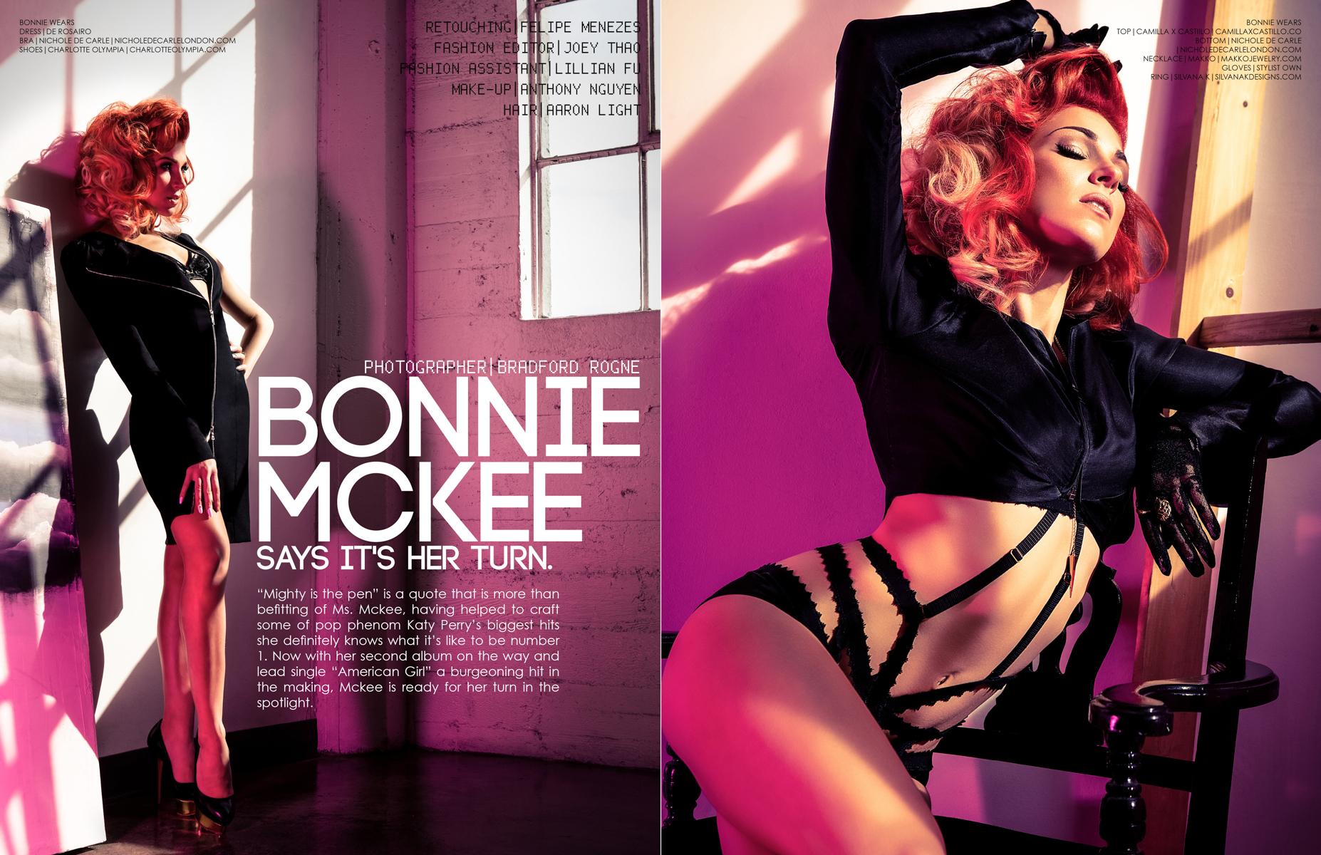 Bonnie McKee Photographed by Bradford Rogne