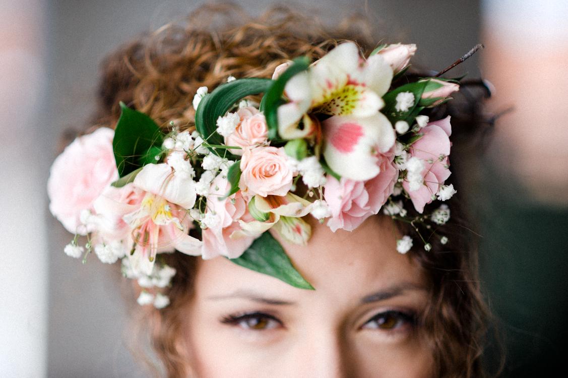 Romantic Bohemian Wedding Bridal Flower Crown