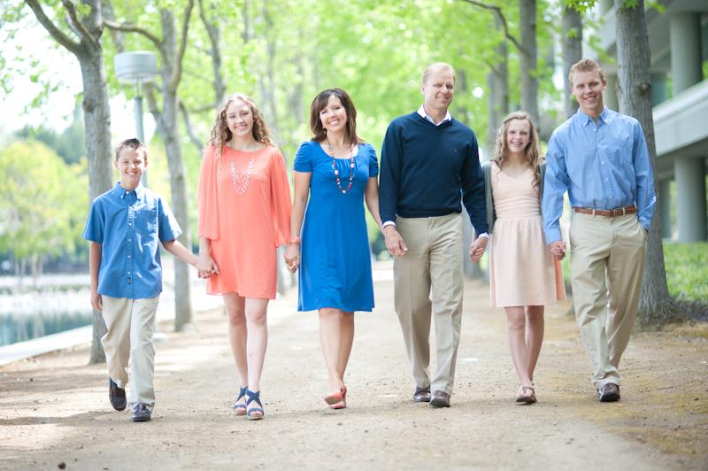 walking family portrait Danville California
