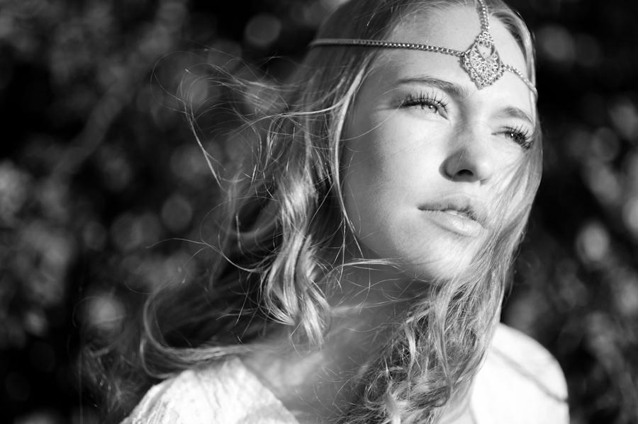 black and white bohemian girl