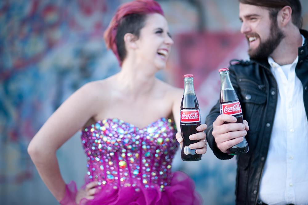 vintage coca cola pink bride