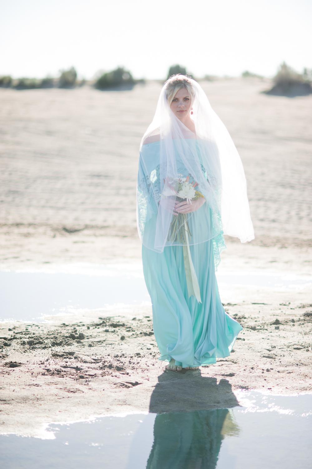 backlit bride desert oasis non traditional wedding dress
