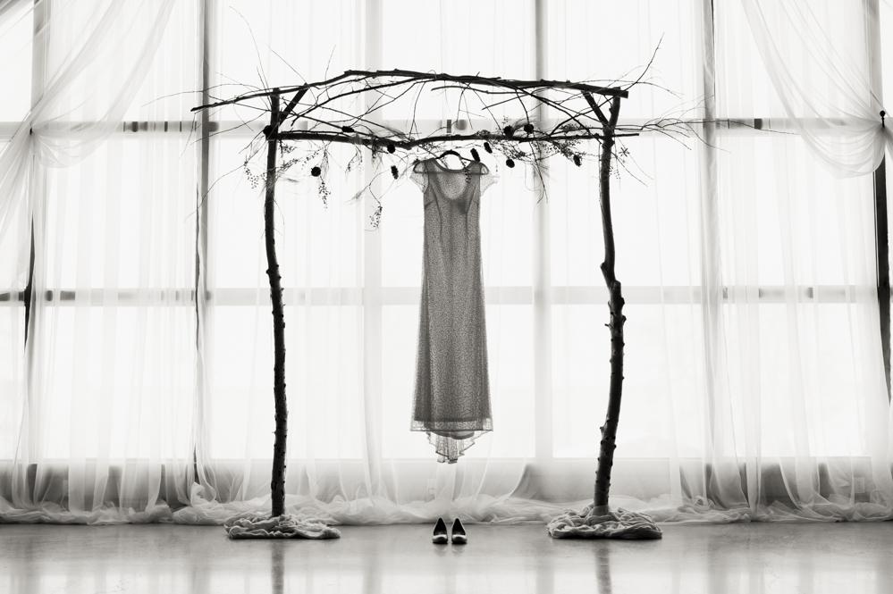 Wedding dress in the atrium rexburg window