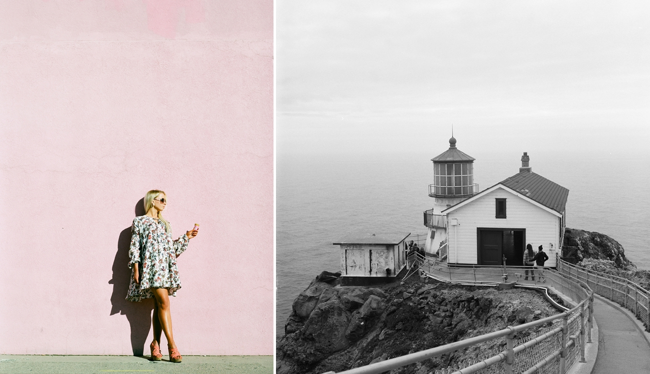 Left: Ektar 100 using a Pentax 645N , Right: Ilford HP5 using a Yashica Mat124