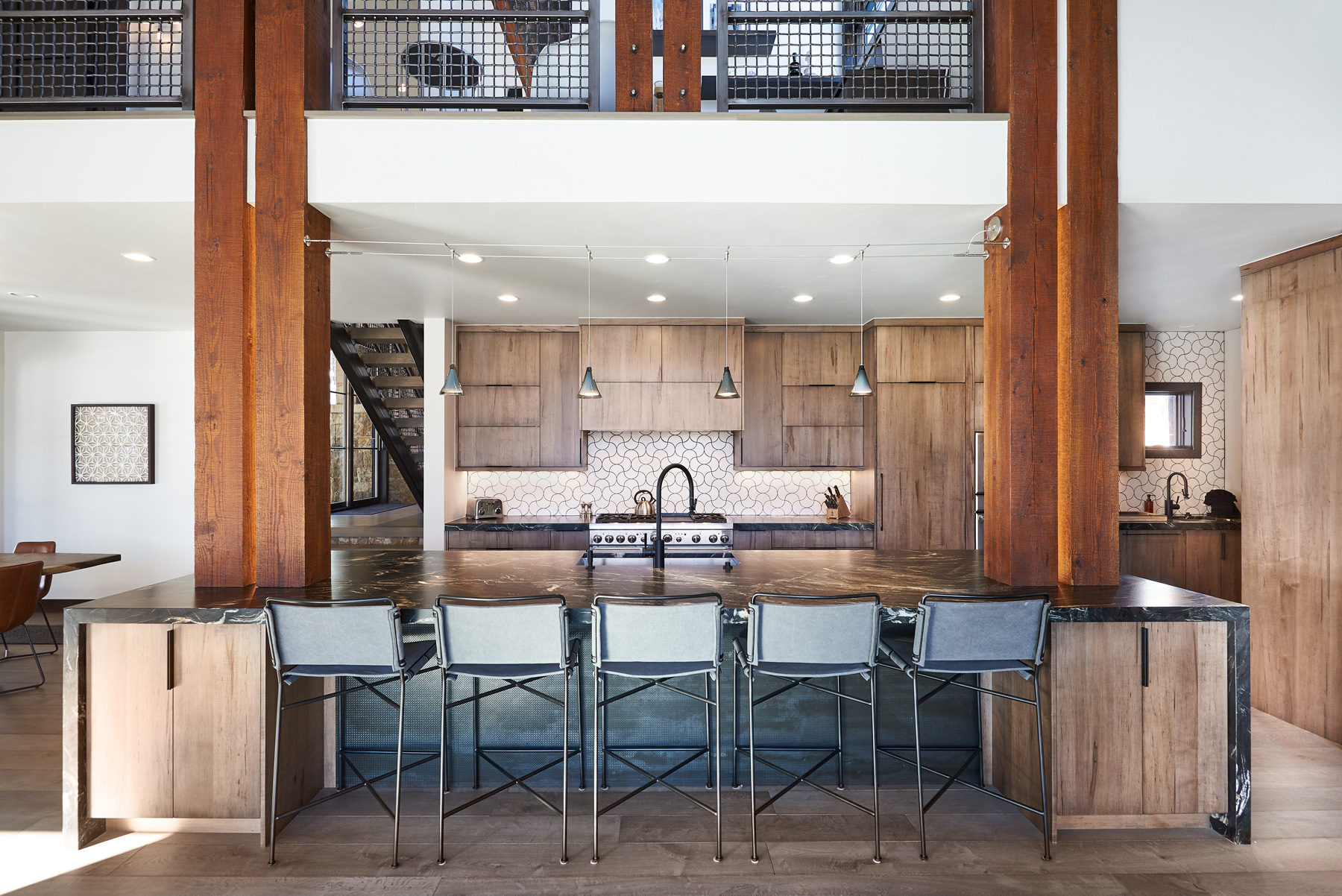 Kitchen island stool and lighting great room design.jpg