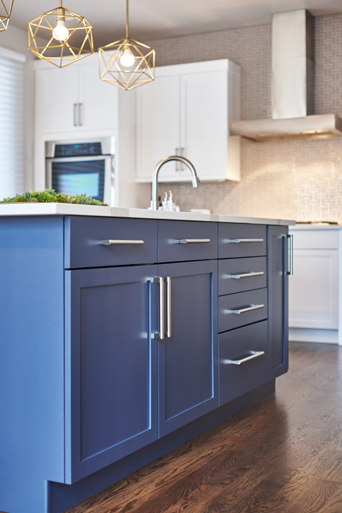 328 Design Group blue kitchen cabinet pendant lighting gold.jpg