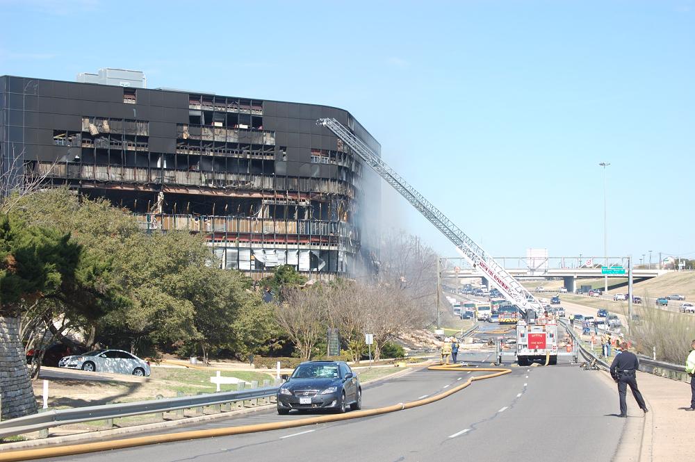 Site of Lone Pilot Deliberate Crash into IRS Building in Austin, Texas