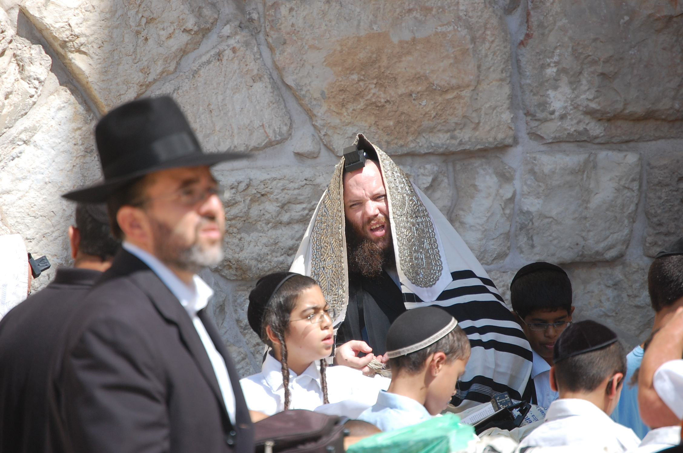 Prayers at the Western Wall in Jerusalem, Israel