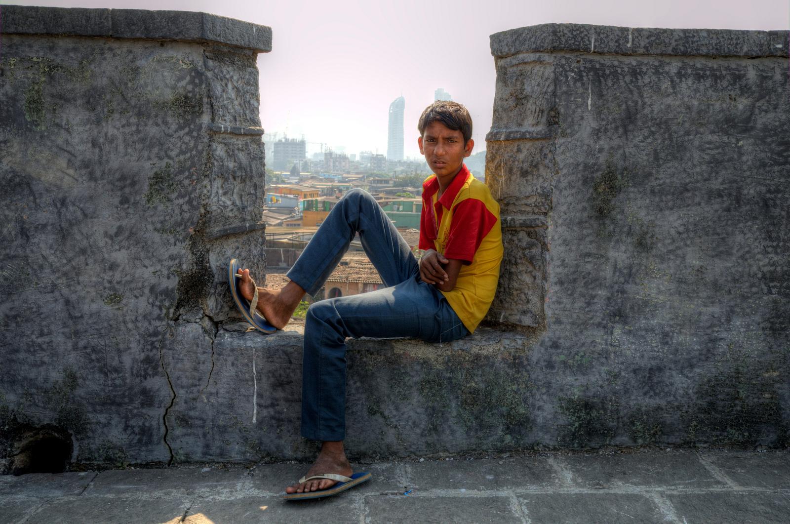 Boy in Mumbai, India