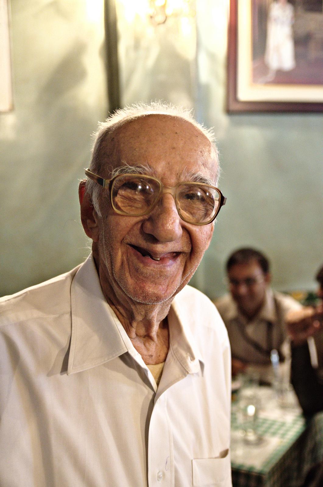Boman Kohinoor, Owner of the Brittania restaurant in Mumbai, India