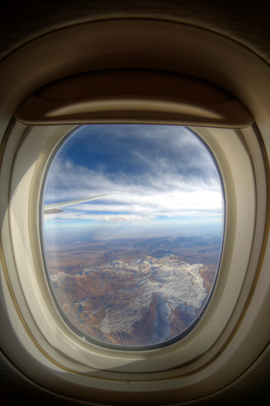 Iran from an Airplane Window