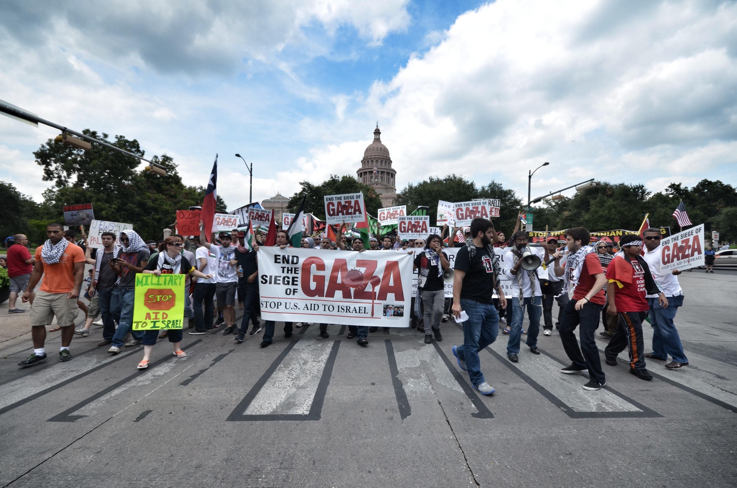 Texans for Gaza Rally, Austin, Texas. August, 2014