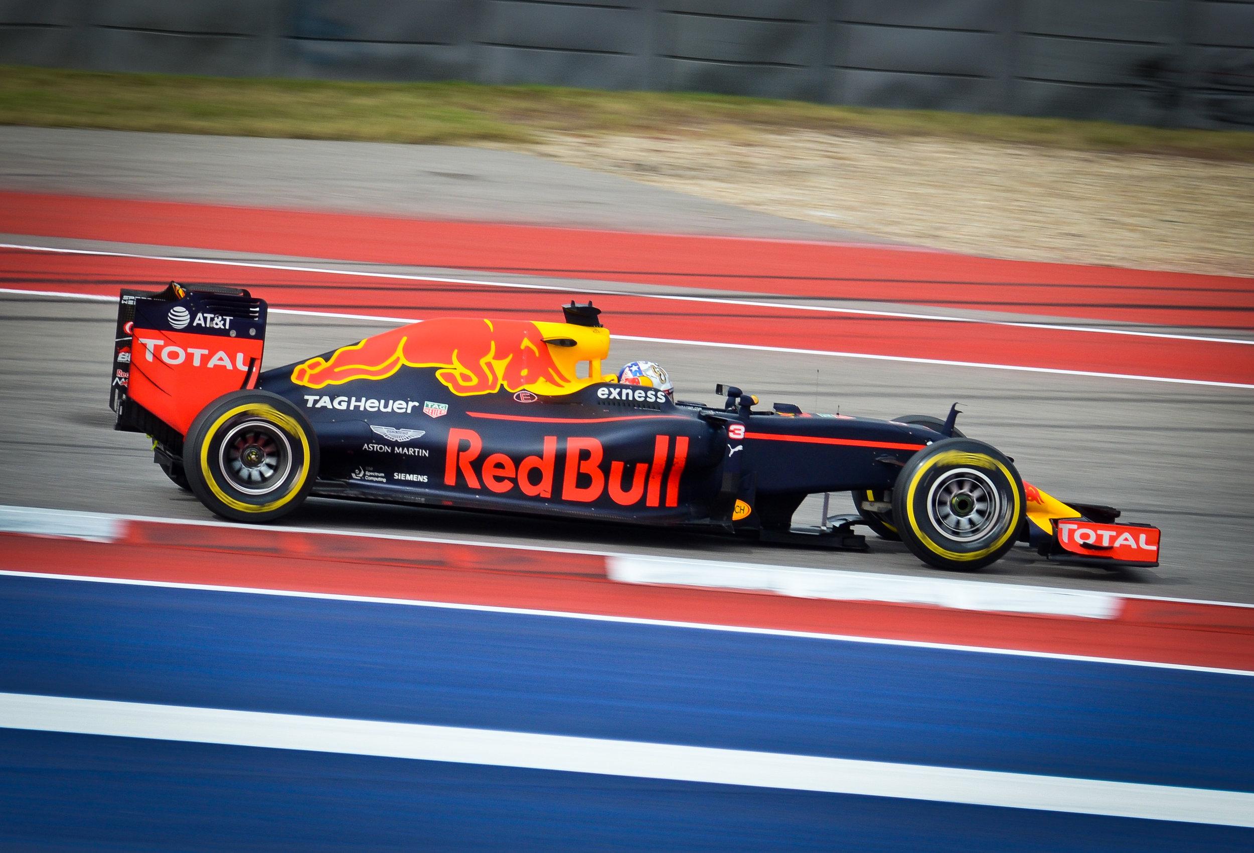 Daniel Ricciardo at the Circuit of the Americas, October, 2016